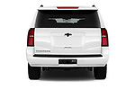 Straight rear view of 2017 Chevrolet Suburban LS 5 Door SUV Rear View  stock images
