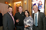 Waterbury, CT- 01 June 2017-060117CM11-  <br /> From left, Frank Monteiro COO at MacDermid Group, Inc, Chef, Chris Deluca and Cathy Gaetani from the Country Club of Waterbury with Dr. Peter Jacoby of St. Mary's Hospital are photographed during the Stages Wine Dinner event in Waterbury on Thursday.   Christopher Massa Republican-American
