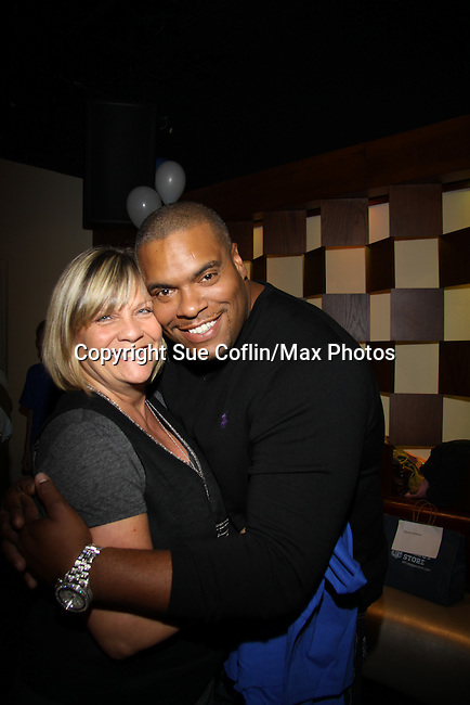 Kim Zimmer and Sean Ringgold at The Seventh Annual Daytime Stars and Strikes benefitting The American Cancer Society hosted by Elizabeth Keifer and Jerry VerDorn with actors from One Life To Live, All My Children, As The World Turns and Guiding Light on October 9, 2010 in New York City, New York. (Photo by Sue Coflin/Max Photos)