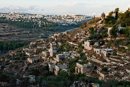 Lifta is an old palestinian village on the outskirts of Jerusalem. It is one of the few villages ethnically cleansed in 1948 that is still standing. Now-days inhabited, it is used a promenade park, and for Jewish ritual bath of Shabbat in the spring at the center of the village.