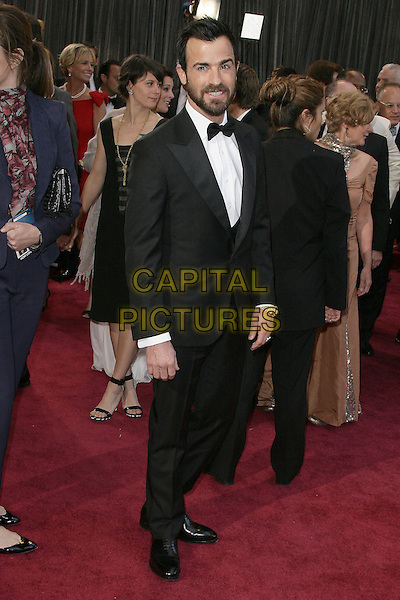 Justin Theroux.85th Annual Academy Awards held at the Dolby Theatre at Hollywood & Highland Center, Hollywood, California, USA..February 24th, 2013.oscars full length black tuxedo white shirt bow tie beard facial hair  .CAP/ADM.©AdMedia/Capital Pictures.