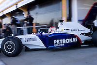 F1.09 BMW Sauber F1 TEST with Robert Kubika as driver. Circuito Ricardo Tormo de la Comunitat Valenciana, Cheste, Valencia, Spain