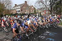 The start of the Men's D1 Criterium at the Eastern Collegiate Cycling Conference Championships on April 28, 2013. Photo/©2013 Craig Houtz