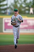 Clinton LumberKings outfielder Connor Scott (13) during a Midwest League game against the Great Lakes Loons on July 19, 2019 at Dow Diamond in Midland, Michigan.  Clinton defeated Great Lakes 3-2.  (Mike Janes/Four Seam Images)