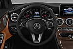 Car pictures of steering wheel view of a 2018 Mercedes Benz C-Class C300 2 Door Coupe Steering Wheel