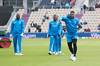 Oshane Thomas (West Indies) with fielding practice before England vs West Indies, ICC World Cup Cricket at the Hampshire Bowl on 14th June 2019