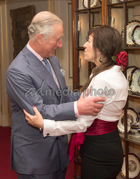 22 November 2016 - London, England - Prince Charles and Nina Borough CBE. Prince Charles Patron of Walk the Walk hosts a reception to celebrate the 20th Anniversary of the charity and meet ambassadors and supporters at Clarence House London. Photo Credit: Alpha Press/AdMedia