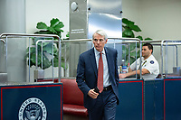 United States Senator Rob Portman (Republican of Ohio) walks through the Senate Subway during a cloture vote on a Coronavirus Stimulus Package at the United States Capitol in Washington D.C., U.S., on Monday, March 23, 2020.  Credit: Stefani Reynolds / CNP/AdMedia