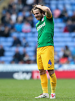 Preston North End's Ben Pearson pulls up injured<br /> <br /> Photographer Andrew Kearns/CameraSport<br /> <br /> The EFL Sky Bet Championship - Reading v Preston North End - Saturday 30th March 2019 - Madejski Stadium - Reading<br /> <br /> World Copyright © 2019 CameraSport. All rights reserved. 43 Linden Ave. Countesthorpe. Leicester. England. LE8 5PG - Tel: +44 (0) 116 277 4147 - admin@camerasport.com - www.camerasport.com