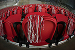 ATLANTA, GA - JANUARY 08: Pom poms decorate the seats prior to the College Football Playoff National Championship held at Mercedes-Benz Stadium on January 8, 2018 in Atlanta, Georgia. (Photo by Jamie Schwaberow/Getty Images)
