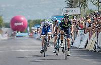 Alejandro Valverde (ESP/Movistar) wins a sprint for 5th<br /> <br /> Stage 6: Le parc des oiseaux/Villars-Les-Dombes &rsaquo; La Motte-Servolex (147km)<br /> 69th Crit&eacute;rium du Dauphin&eacute; 2017