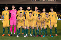 Australia team before the International Friendly match between Colombia and Australia at Craven Cottage, London, England on 27 March 2018. Photo by Andrew Aleksiejczuk / PRiME Media Images.