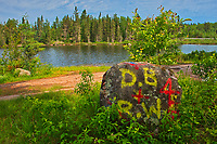 Graffiti or defacing of the natural environment at Graphic Lake<br />