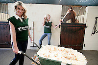 NO FEE PICTURES 20/6/10 Clean Sweep with Betfair: Sarah Morrissey and Pippa O'Connor are pictured at the announcement by Betfair that they will guarantee each of the remaining 25 National Lottery Sweepstakes ticket holders EUR84,000 each if they sell their tickets to the betting exchange. The move by Betfair is to promote the fact that the service provides the winners with the perfect platform to guarantee themselves a payout of more than the minimum EUR10,000 on offer when the big race is run in the Curragh on 27th June. Find out more about Betfair on www.betfair.com   or call 01-2921444. Arthur Carron/Collins