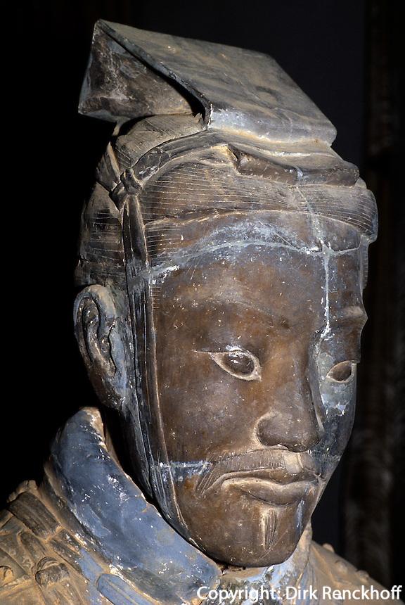 Grab des Quin Shi Huangdi, Tonkrieger,  Xi'An, China, Unesco-Weltkultuererbe
