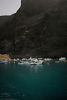 Harbour of Valley Gran Rey, La Gomera, Canary Islands,Spain