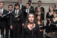 The Glee Club during Homecoming, Oct. 22, 2016, led by Desiree LaVertu. They performed in Thorne Hall for the Oxy community.<br />