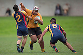 Rainbows End Counties Manukau & Waikato 1st XV (Premier)  rugby game between Alfriston College and Manurewa High school, played at Alfriston College on Saturday June 18th 2016. Manurewa High School won the game 48 - 9. Photo by Richard Spranger.