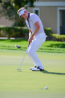 Luke Donald (GBR) barely misses his birdie attempt on 12  during round 1 of the Honda Classic, PGA National, Palm Beach Gardens, West Palm Beach, Florida, USA. 2/23/2017.<br /> Picture: Golffile | Ken Murray<br /> <br /> <br /> All photo usage must carry mandatory copyright credit (&copy; Golffile | Ken Murray)