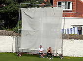 Carlton CC V Grange CC, Scottish National Cricket League, Premier Division, at Grange Loan, Edinburgh - Carlton's Bryne Lockie and Cedric English bask in the Grange Loan sunshine as they watch their team reach 219 for 8 - Picture by Donald MacLeod 25.07.09
