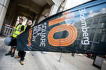 Branding before the Bloomberg Square Mile Relay in London, United Kingdom. Photo by Richard Langdon / Power Sport Images