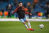 16 year old Phil Foden of Man City before the UEFA Champions League GROUP match between Manchester City and Celtic at the Etihad Stadium, Manchester, England on 6 December 2016. Photo by Andy Rowland.