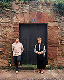 SPAIN, Ezcaray, La Rioja, Chef Francis Paniego and his mother, Chef Marisa Sanchez.