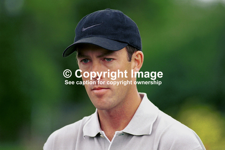 Richard Green, professional golfer, Australia. Ref: 199907069. Photograph taken July 1999 at Druids Glen, Co Wicklow, during Murphys Irish Open...Copyright Image from Victor Patterson, 54 Dorchester Park, Belfast, UK, BT9 6RJ..Tel: +44 28 9066 1296.Mob: +44 7802 353836.Voicemail +44 20 8816 7153.Skype: victorpattersonbelfast.Email: victorpatterson@mac.com.Email: victorpatterson@ireland.com (back-up)..IMPORTANT: If you wish to use this image or any other of my images please go to www.victorpatterson.com and click on the Terms & Conditions. Then contact me by email or phone with the reference number(s) of the image(s) concerned.