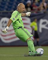 New England Revolution goalkeeper Matt Reis (1). In a Major League Soccer (MLS) match, Chivas USA defeated the New England Revolution, 3-2, at Gillette Stadium on August 6, 2011.