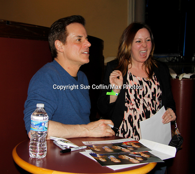 Christian Jules LeBlanc and fans - The Young and The Restless - Genoa City Live celebrating over 40 years with on February 27. 2016 at The Lyric Opera House, Baltimore, Maryland on stage with questions and answers followed with autographs and photos in the theater.  (Photo by Sue Coflin/Max Photos)