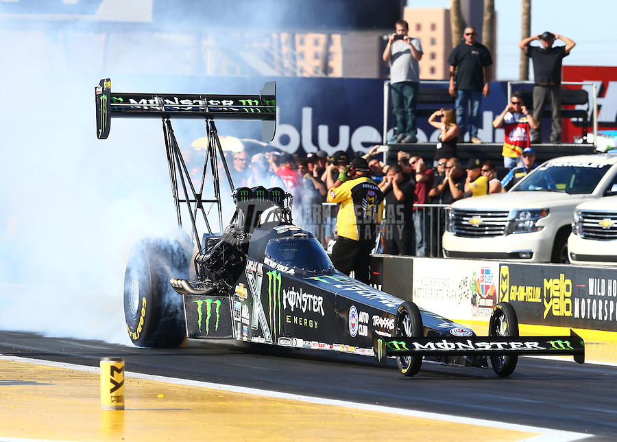 Feb 28, 2016; Chandler, AZ, USA; NHRA top fuel driver Brittany Force during the Carquest Nationals at Wild Horse Pass Motorsports Park. Mandatory Credit: Mark J. Rebilas-USA TODAY Sports