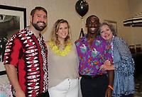 NWA Democrat-Gazette/CARIN SCHOPPMEYER Blake Pennington (from left), Hannah Hairston, Quintin Canada and Karen Rogers help support the Elizabeth Richardson Center on July 26.