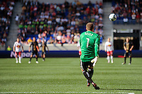 Philadelphia Union goalkeeper Chris Seitz (1). The New York Red Bulls defeated the Philadelphia Union 2-1 during a Major League Soccer (MLS) match at Red Bull Arena in Harrison, NJ, on April 24, 2010.