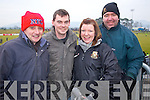 Michael Lynch, Richard Whelan, Brigitte Whelan and John C O'Shea  Dr. Crokes fans at the AIB Senior Club Football Championship Munster Final at Mallow GAA Grounds on Sunday 30th January 2011.