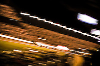 Kyle Busch hits the wall after contact with eventual winner Tony Stewart on the last lap..4 July, 2009, Daytona Beach, Florida USA..©2009 F.Peirce Williams, USA.