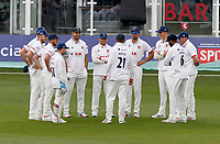 Tom Westley of Essex holds the Essex team huddle during Kent CCC vs Essex CCC, Friendly Match Cricket at The Spitfire Ground on 27th July 2020