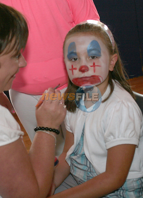 Facepainting at the Irish Wheelchair Association Summer Camp. ..Photo NEWSFILE/Jenny Matthews.(Photo credit should read Jenny Matthews/NEWSFILE)....This Picture has been sent you under the condtions enclosed by:.Newsfile Ltd..The Studio,.Millmount Abbey,.Drogheda,.Co Meath..Ireland..Tel: +353(0)41-9871240.Fax: +353(0)41-9871260.GSM: +353(0)86-2500958.email: pictures@newsfile.ie.www.newsfile.ie.FTP: 193.120.102.198.