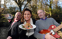 FREE PHOTO: 25-3-2015: Tuesday, 24th March 2015:   Former dragon Norah Casey, Chef Paul Treyvaud and promoter Shane O'Driscoll pictured near the 'half moon' field in the Killarney House Demesne for the launch of the Killarney Festival of Music &amp; Food which will take place over the weekend of June 27-28.<br /> Photo by Don MacMonagle<br /> <br /> repro free Killarney Festival of Musice &amp; Food<br /> More info: Nicola@nicolawatkinspr.com<br /> <br /> Press release:, <br /> It was announced today that eight of Ireland&rsquo;s finest Michelin Star and celebrity chefs will be cooking up a storm in the Food &amp; Wine Magazine Village hosted by Norah Casey, at the inaugural boutique festival at Killarney House Demesne on 27 &amp; 28 June.<br /> Derry Clarke (L&rsquo;Ecrivain, Dublin), Ross Lewis (Chapter One, Dublin) and JP McMahon (EatGalway Restaurant Group, which comprises Aniar, Cava Boedga, and Eat Gastropub), will join Clodagh McKenna (Clodagh&rsquo;s Kitchen, Dublin), Sunil Ghai  (Ananda Restaurant), Noel Enright (The Lake Hotel, Killarney); Paul Treyvaud (Treyvauds, Killarney); Catherine Fulvio (Ballyknocken House) in the Chef&rsquo;s Kitchen where they will show food lovers how to prepare delicious mouth-watering dishes using locally produced, seasonal ingredients from Kerry .<br /> The Killarney Festival Food Village will be an extensive showcase of wine and food not only for the region of Kerry but for Ireland as a whole.   It will feature well established restaurants from around Ireland, local artisan food producers including Ring of Kerry Lamb, Ballinskelligs Duck, Hulberts Fine Food, Lizzy's Little Kitchen, O'Brien&rsquo;s Farmhouse Cheese, Sasta Sausages, Killarney Toffee,  Valentia Island Dairy and Ballyhar Farm Produce including organic Kerry Rose Veal &amp; Cow's Milk.<br /> The Food &amp; Wine Village will also feature a Wine Bar, Craft Beer Lounge and Cocktail Bar.  A variety of food vendors offering cuisine from around the world will also be on site to cater for up to 20,000 festival goers over the weekend.<br /> Norah Casey said &ldquo;As a lover of both