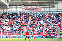 Blackpool fans watch on during the first half<br /> <br /> Photographer Alex Dodd/CameraSport<br /> <br /> The EFL Sky Bet League One - Rotherham United v Blackpool - Saturday 5th May 2018 - New York Stadium - Rotherham<br /> <br /> World Copyright &copy; 2018 CameraSport. All rights reserved. 43 Linden Ave. Countesthorpe. Leicester. England. LE8 5PG - Tel: +44 (0) 116 277 4147 - admin@camerasport.com - www.camerasport.com