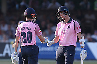 John Simpson and Stevie Eskinazi enjoy a useful partnership for Middlesex during Essex Eagles vs Middlesex, Vitality Blast T20 Cricket at The Cloudfm County Ground on 6th July 2018