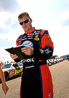Oct 4, 2008; Talladega, AL, USA; NASCAR Sprint Cup Series driver Jeff Burton during qualifying for the Amp Energy 500 at the Talladega Superspeedway. Mandatory Credit: Mark J. Rebilas-