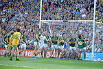 Kerry minors guard their goalmouth Kerry's victory over Donegal in the All-Ireland Football Final against  in Croke Park 2014.<br /> Photo: Don MacMonagle<br /> <br /> <br /> Photo: Don MacMonagle <br /> e: info@macmonagle.com