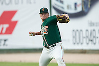 Greensboro Grasshoppers starting pitcher Tyler Kolek (30) warms up in the outfield prior to the game against the Kannapolis Intimidators at CMC-Northeast Stadium on June 9, 2015 in Kannapolis, North Carolina.  The Intimidators defeated the Grasshoppers 6-4.  (Brian Westerholt/Four Seam Images)