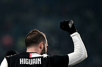 Gonzalo Higuain of Juventus celebrates after scoring a goal <br /> Torino 15/01/2020 Juventus Stadium <br /> Football Italy Cup 2019/2020 <br /> Round of 16 <br /> Juventus FC - Udinese <br /> Photo Federico Tardito / Insidefoto