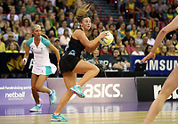 07.10.2018 Silver Ferns Gina Crampton in action during the Silver Ferns v Australia netball test match at the Brisbane Entertainment Centre in Brisbane. Mandatory Photo Credit ©Michael Bradley.