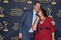 NEW YORK CITY - MAY 08: JKevin Burkhardt and his wife Rachel attend the Sports Emmy Awards at Jazz at Lincoln Center's Frederick P. Rose Hall in Manhattan on May 08, 2018 in New York City. (Photo by Anthony Behar/FX/PictureGroup)