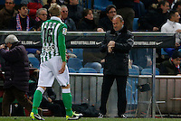 03.02.2013 SPAIN -  La Liga 12/13 Matchday 22th  match played between Atletico de Madrid vs Real Betis Balompie (1-0) at Vicente Calderon stadium. The picture show Pepe Mel coach of Real Betis Balompie