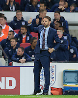 England Caretaker Manager (Head Coach) Gareth Southgate gives a thumb up during the International Friendly match between England and Spain at Wembley Stadium, London, England on 15 November 2016. Photo by Andy Rowland.