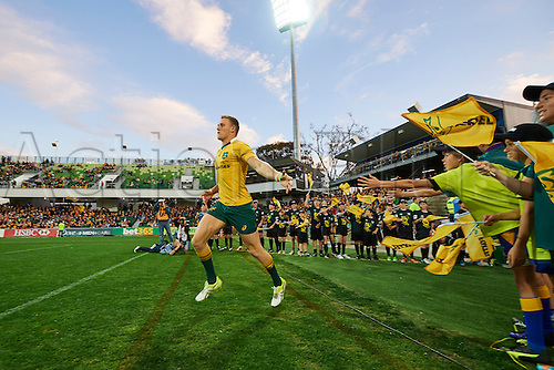 17.09.2016. Perth, Australia.  Reece Hodge of the Qantas Wallabies enters the field during the Rugby Championship test match between the Australian Qantas Wallabies and Argentina's Los Pumas from NIB Stadium - Saturday 17th September 2016 in Perth, Australia.