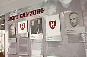 Part of the upstairs concourse wall. - Harvard University celebrated the official opening of the newly renovated Bright-Landry Hockey Center on Saturday, November 1, 2014,  in Cambridge, Massachusetts.